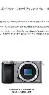 α6000_グラファイトグレー